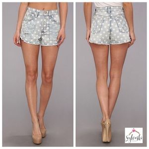 🆕MINKPINK Sugar Magnolia Slashed Jean Shorts